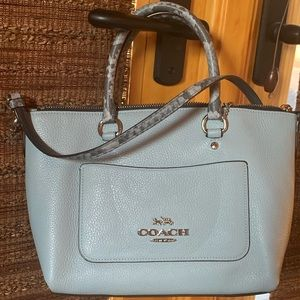 Coach Mini Emma satchel, with exotic accents